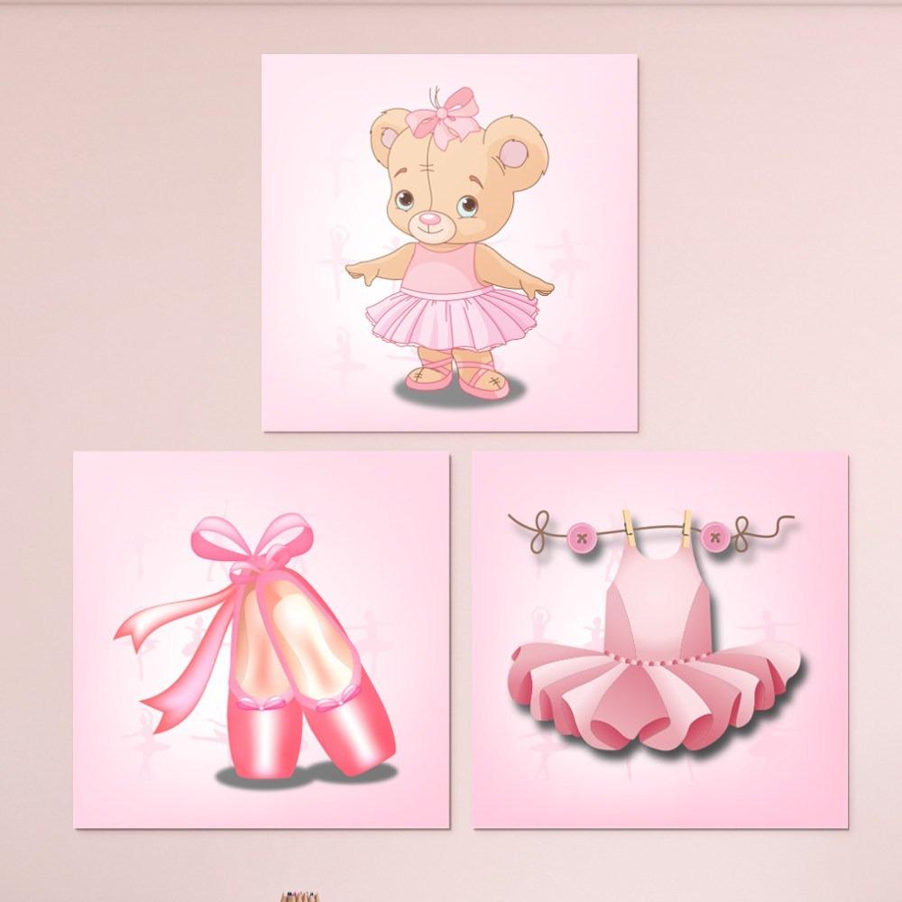 e31d16ec9c conjunto quadro decorativo canvas infantil bailarina. Carregando zoom.