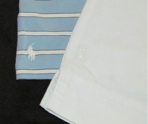 conjunto ralph lauren bermuda e blusa listrada - tam 16