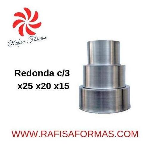 conjunto redonda c/ 3 x25 x20 x15