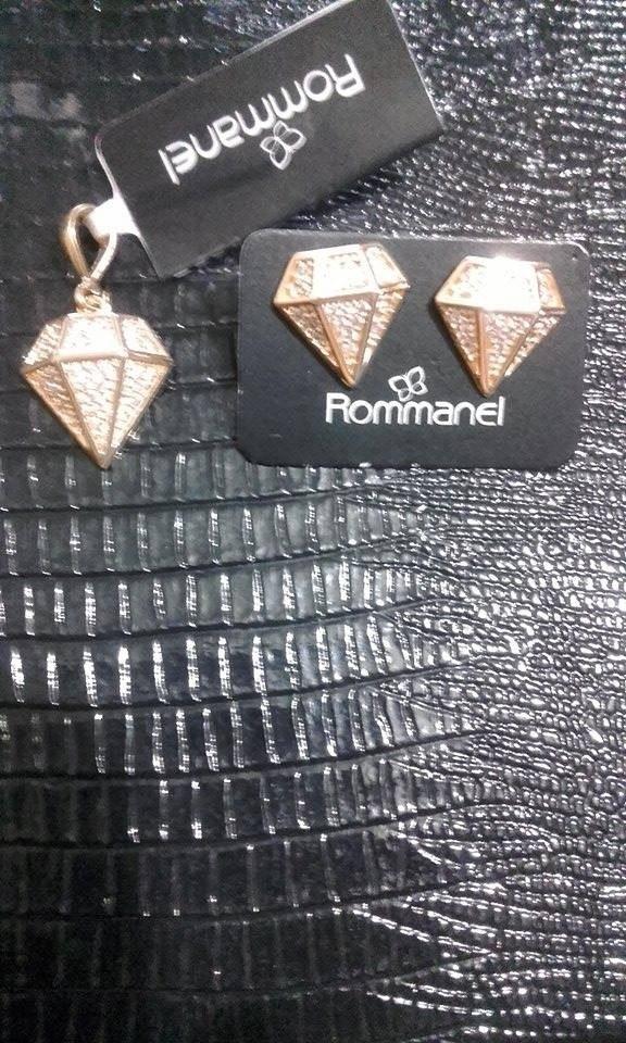 7f52589981c conjunto rommanel diamantes cravejado de zirconias folheado. Carregando zoom .