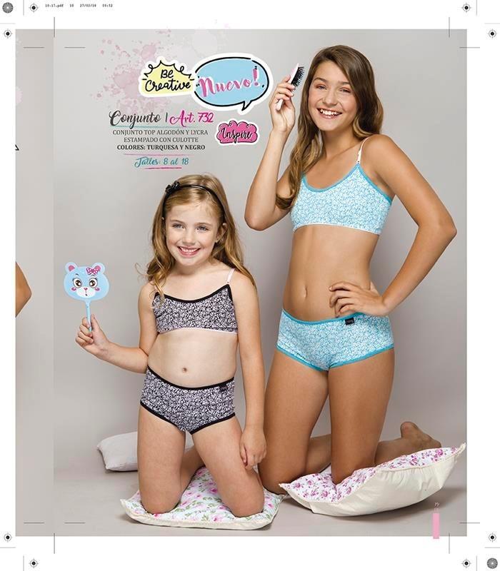 conjunto ropa interior niña nena adolescente liso-estampado. Cargando zoom. 803395481dca