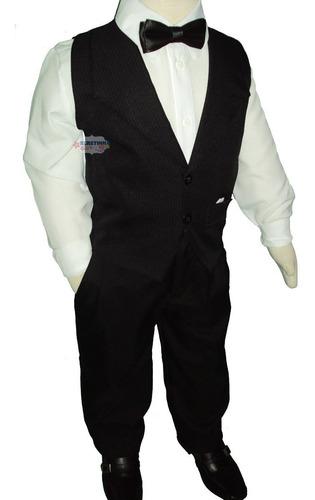 conjunto roupa infantil completo c/ colete  festa pajem