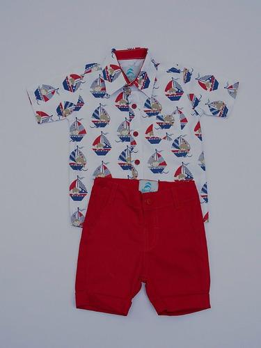 conjunto roupa menino camisa social manga curta marinheiro pequeno príncipe collection