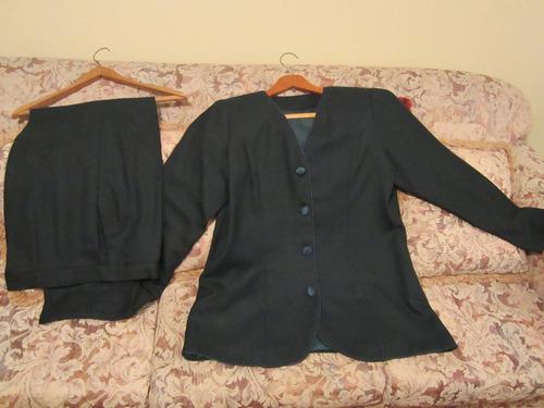 conjunto saco y pantalon de vestir forrado