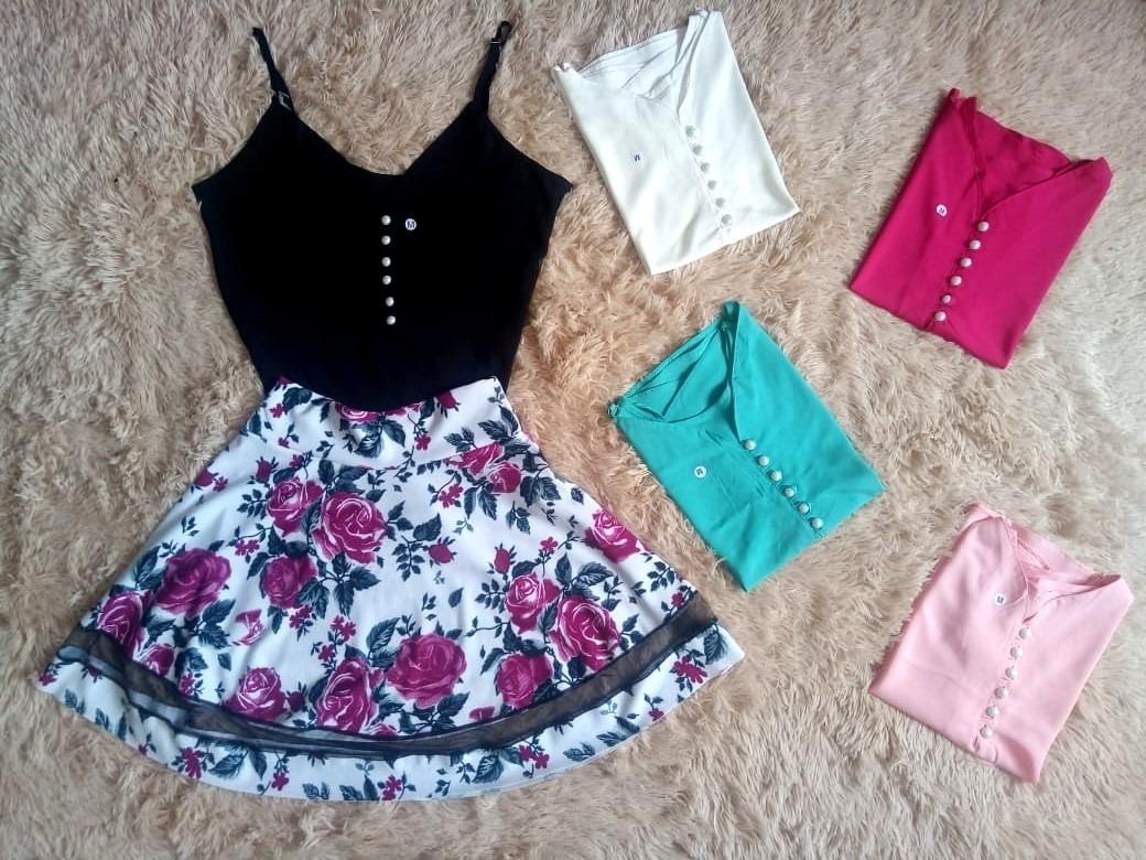 b59b5c58dff conjunto saia gode blusa perola camiseta feminina vestido. Carregando zoom.