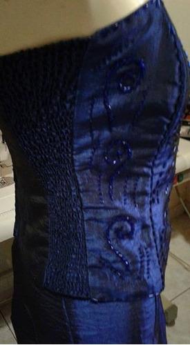 conjunto saia sereia e blusa bordada seda tafeta latex p/m