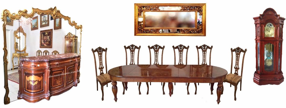 Altura Aparador Jantar ~ Conjunto Sala De Jantar Com Mesa Aparador E Espelho R$ 55 000,00 em Mercado Livre