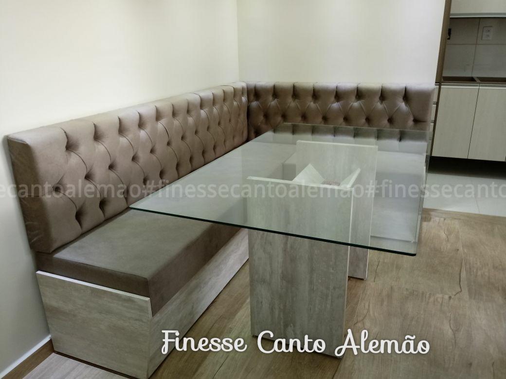 Conjunto Sala De Jantar Estilo Canto Alem O Em L 2 00×1 40m R  -> Sala De Jantar Estilo Alemao