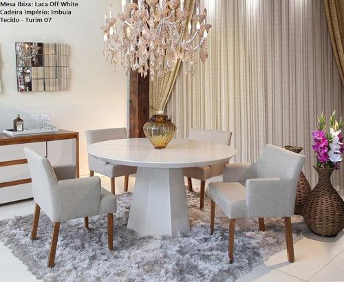conjunto sala de jantar ibiza mesa c4 cadeiras - mobillare x