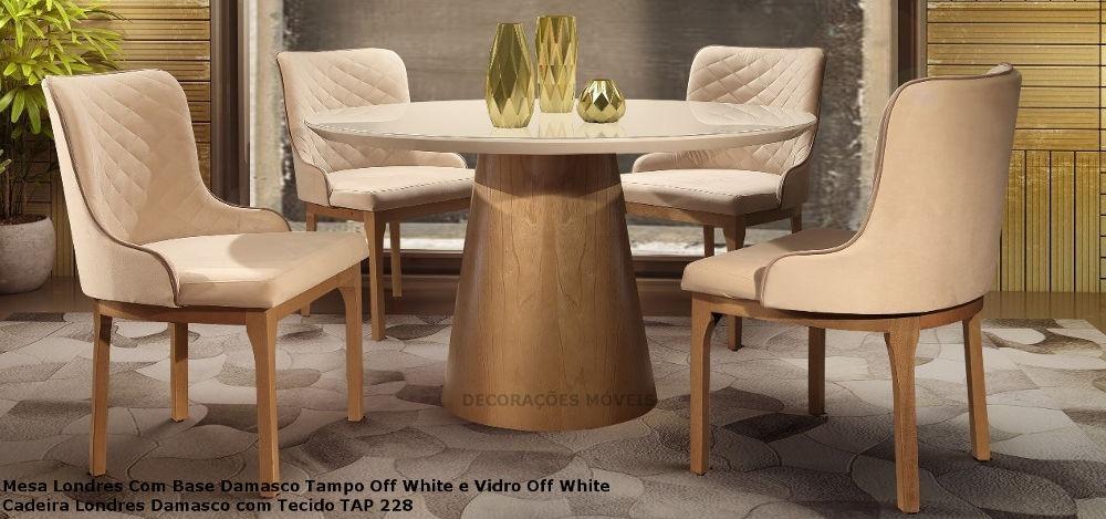 cdd8cc381 conjunto sala de jantar londres mesa e 4 cadeiras londres -. Carregando  zoom.
