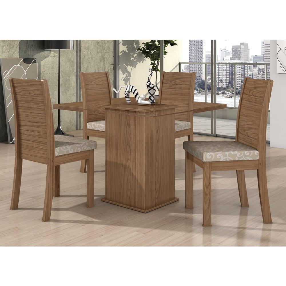 Conjunto sala de jantar lopas mesa tampo vidro 4 cadeiras for Sala 2 conjunto de artes escenicas