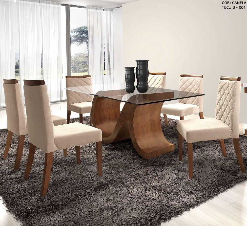 Conjunto sala de jantar mesa e 6 cad canad matos e for Sala 2 conjunto de artes escenicas