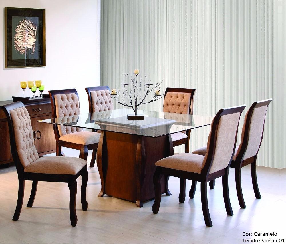 Conjunto Sala De Jantar Etna ~ Conjunto Sala De Jantar Mesa E 6 Cadeiras Sofia  Mobillare  R$ 5398