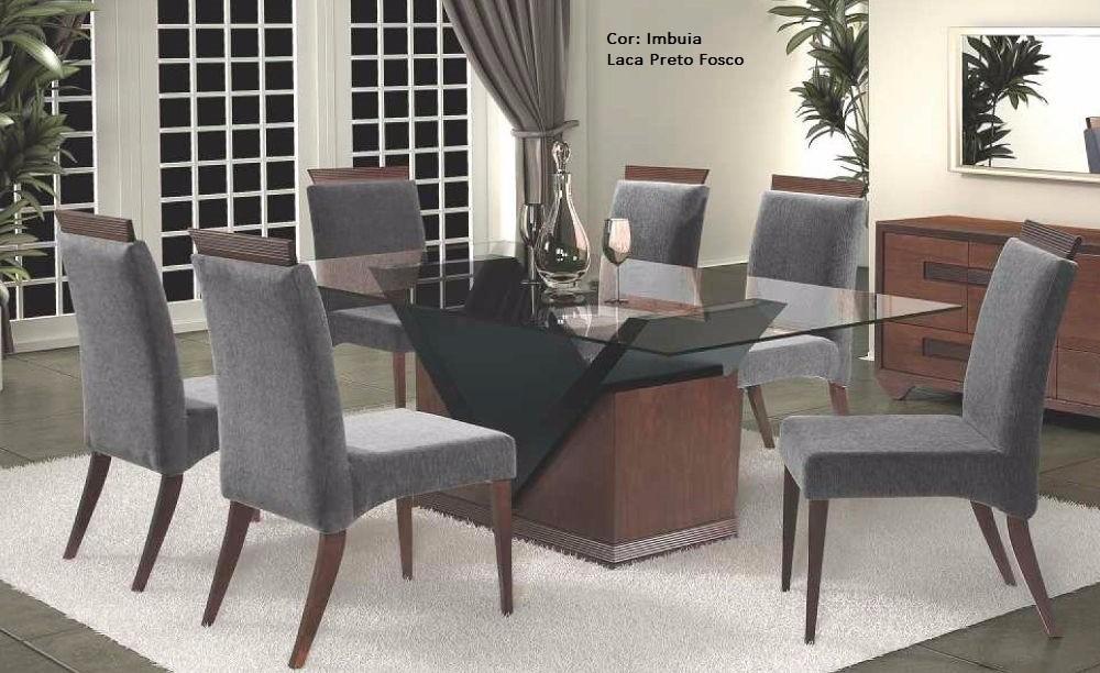 Moveis De Sala De Jantar Em Uba Mg ~ Sala De Jantar Mesa E 6 Cadeiras Viena  Rafana  R$ 3009,88 em