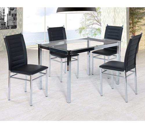 conjunto sala jantar tokio mesa 4 cadeiras art panta a
