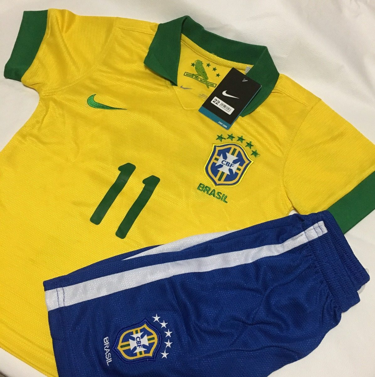 conjunto seleção brasileira camisa 11 - tamanho 13 14 anos. Carregando zoom. 3502200a63c8c