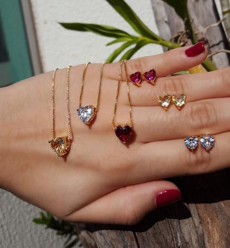 conjunto semi joias