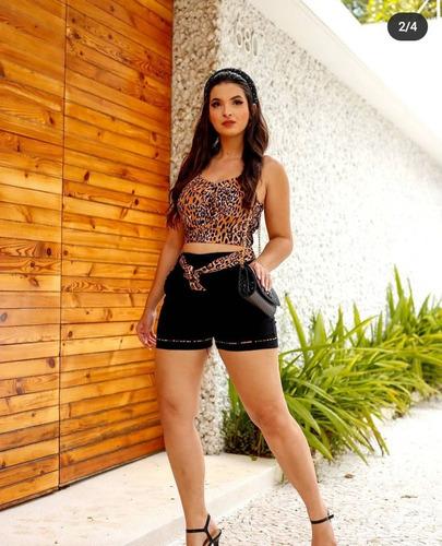 conjunto short e blusa bengaline