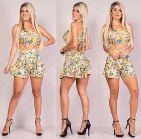 b35601c23c Conjunto Cropped Nozinho E Shorts Ver O Moda Blogueiras no Mercado Livre  Brasil