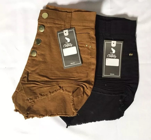 conjunto shorts jeans hot pants colorido top croche tricô