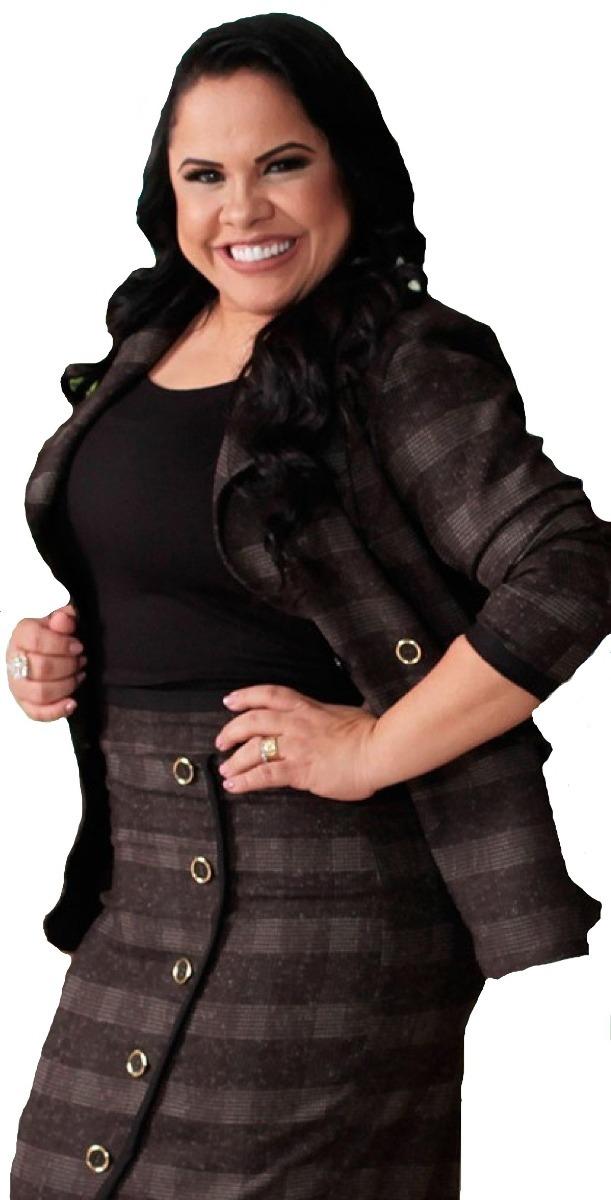 a04f4098e2 conjunto social feminino saia blazer xadrez moda evangélica. Carregando  zoom.