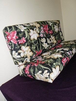 conjunto sofá/almofada futon, assento e encosto,impermeável,