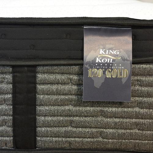 conjunto somier 2p colchon king koil luxury pocket 140x190 gold edition visco base comfort blancas resortes pocket