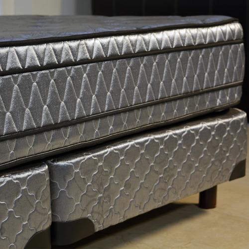 conjunto somier 2x2 super king size viggo extra firm espuma alta densidad 30 kg/m³ europillow 200 x 200