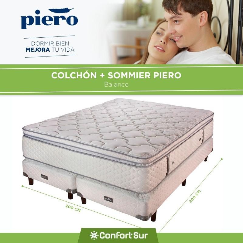 Conjunto Sommier Piero Balance 200x200 Resortes Pocket *6 - $ 35.999 ...