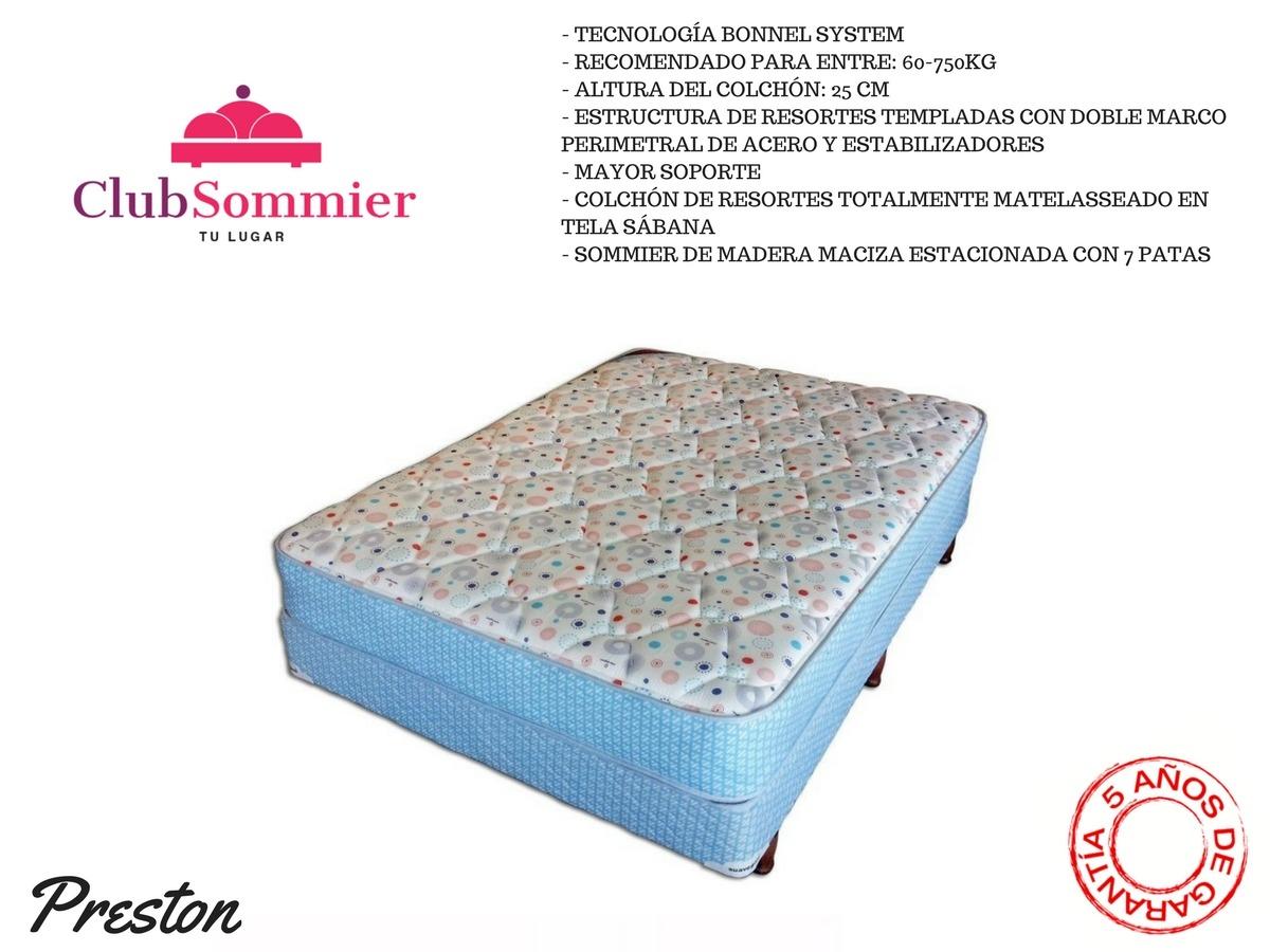 Conjunto Sommier Y Colchón Suavegom Preston Resortes 190x140 ...