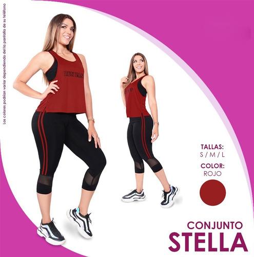 conjunto stella bvd+sniker para gimnasio dama suplex