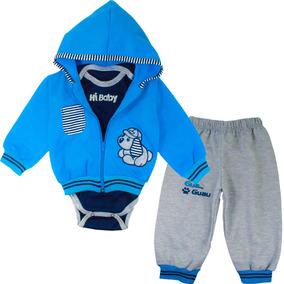 c9466e8bf Conjunto Sudadera Para Bebe Niño Baby - Azul