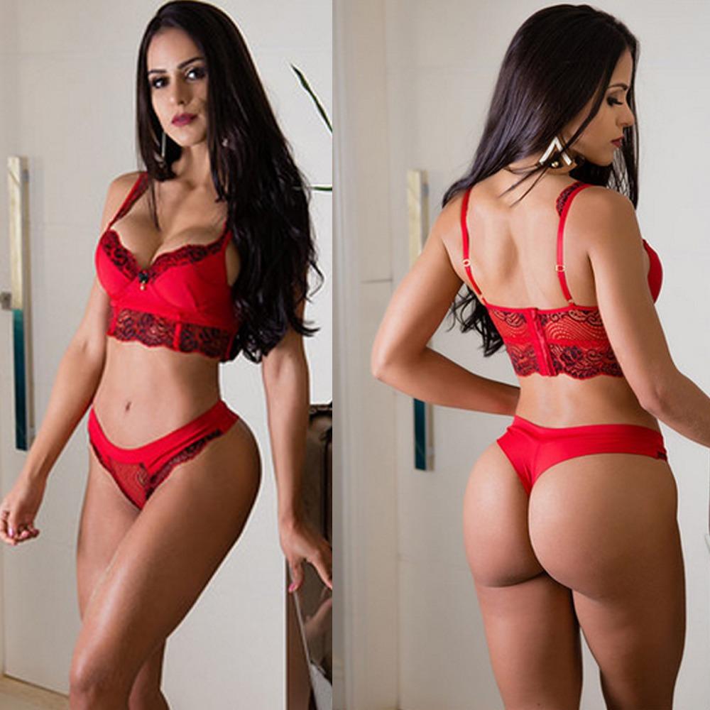 a90a621b1 conjunto sutiã e calcinha luxo vermelho bordada croped top. Carregando zoom.