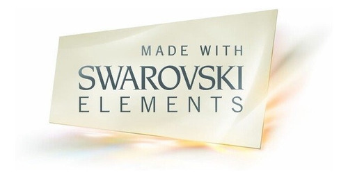 conjunto swarovski elements corazón 28mm y aros 14mm.
