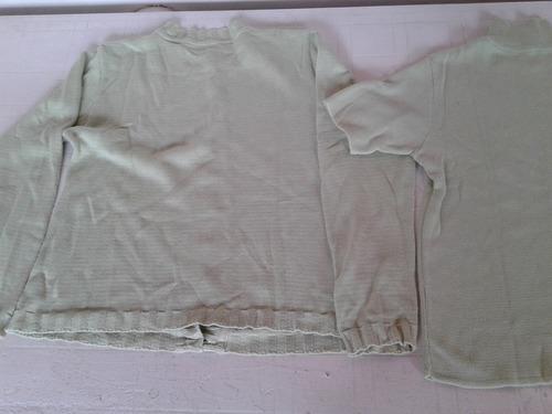 conjunto sweater y saquito verde claro talle s