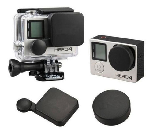 conjunto tampas protetoras para câmera gopro hero 3+ e hero4