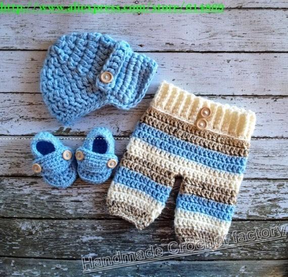 Conjunto Tejido Crochet Ropa Vestido Capullo Bebe Niña Niño - Bs. 0 ...