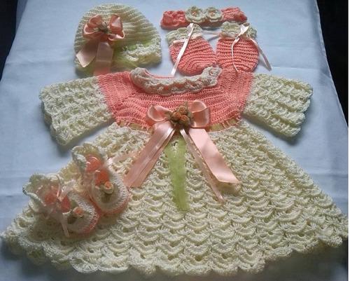 conjunto tejido para bebe