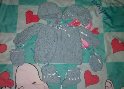 conjunto tejido recien nacido gorro manos pies bebes ropa