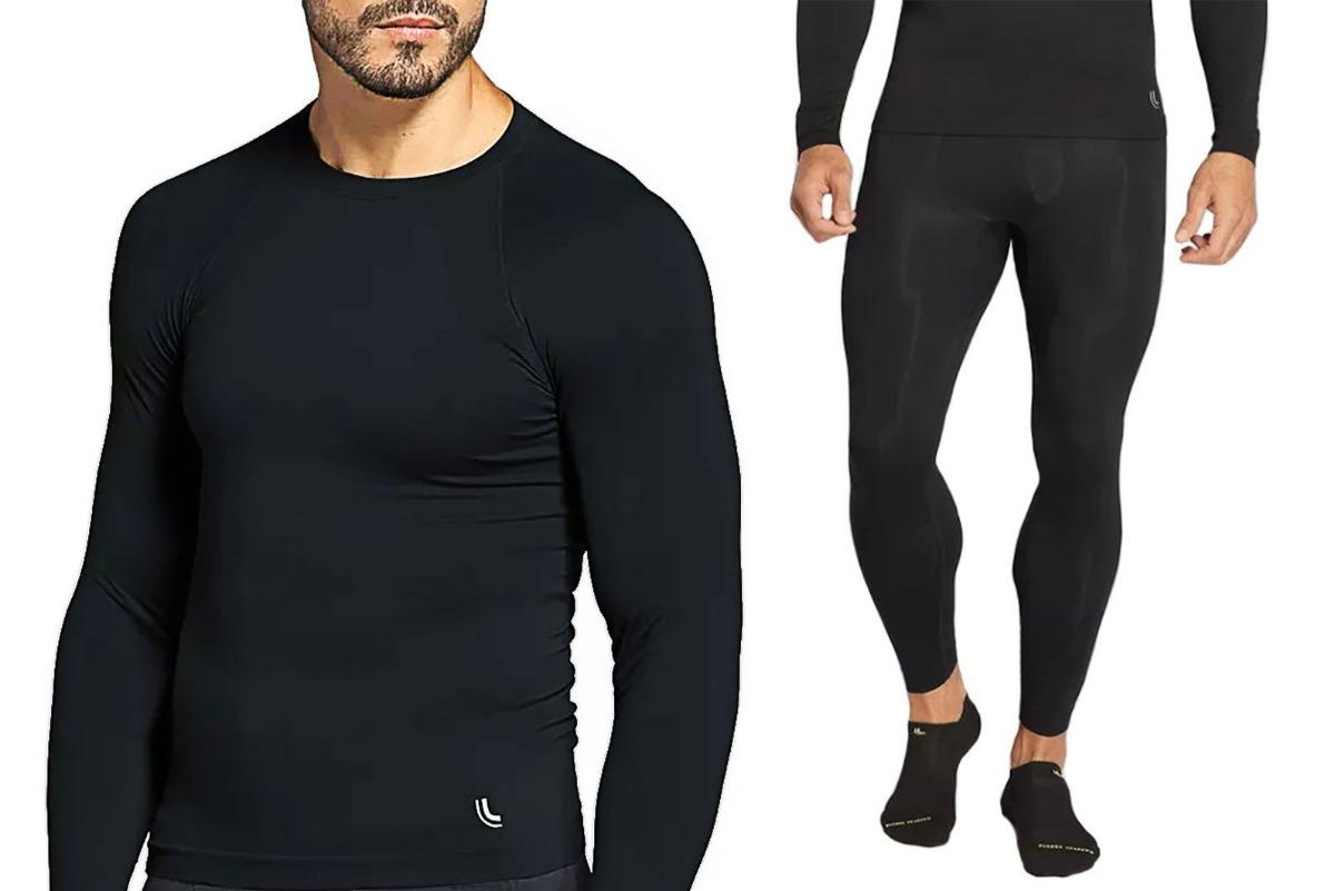 conjunto térmico masculino camisa manga longa + calça lupo. Carregando zoom. e3f24a354002f