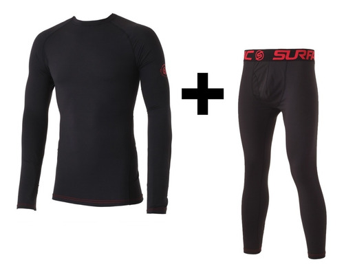 conjunto térmico remera + calza surfanic  jonah roly hombre