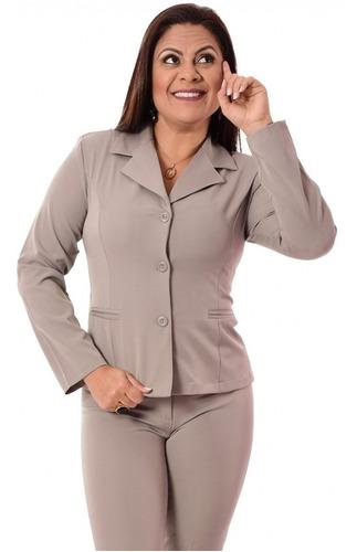 conjunto terninho blazer 3 botões com calça, cores variadas