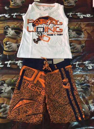conjunto tigor t tigre coleção nova original