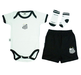 d3a80c9b4 Conjunto Time Santos Futebol Clube Oficial Enxoval Bebê