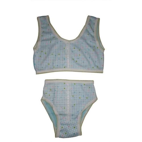 conjunto top y panty cuadros azules niña 2-4