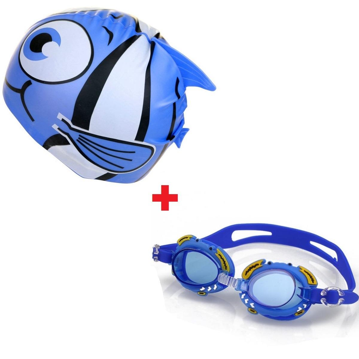 conjunto touca infantil + óculos natação infantil promoção. Carregando zoom. c3303dbdfec