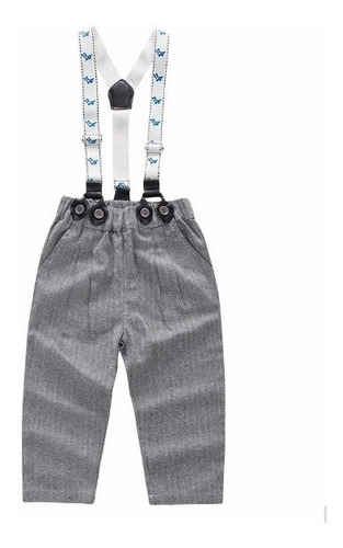 conjunto traje formal bebé niño camisa moño tirante pantalón