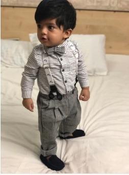 e25b79b10 Conjunto Traje Formal Bebé Niño Camisa Moño Tirante Pantalón ...