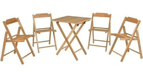conjunto tramontina 10630066 mesa e 4 cadeiras dobrável