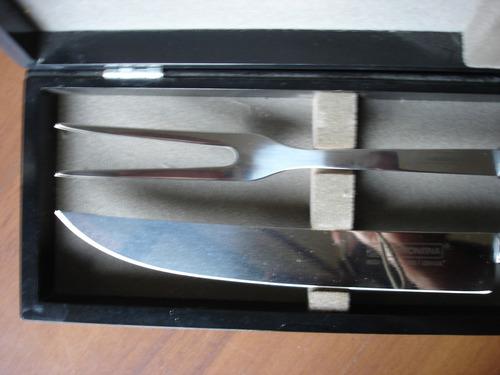 conjunto tramontina de faca e garfo p/ churrasco em inox